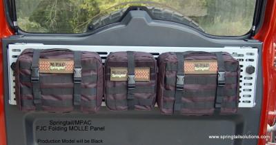 Fj Cruiser Rear Door Folding Molle Rack Combo