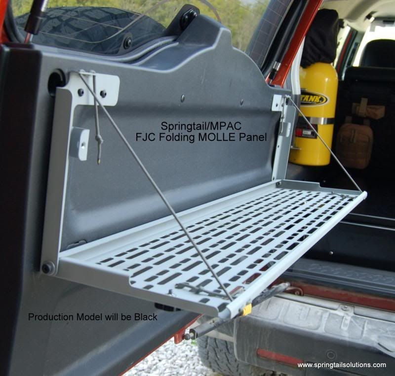 Fj Cruiser Rear Door Folding Molle Rack
